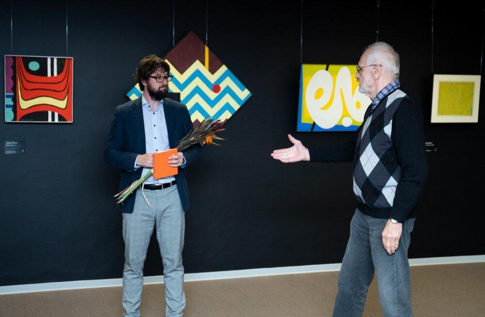 Andres Eilart ja Jüri Arrak näituse avamisel.