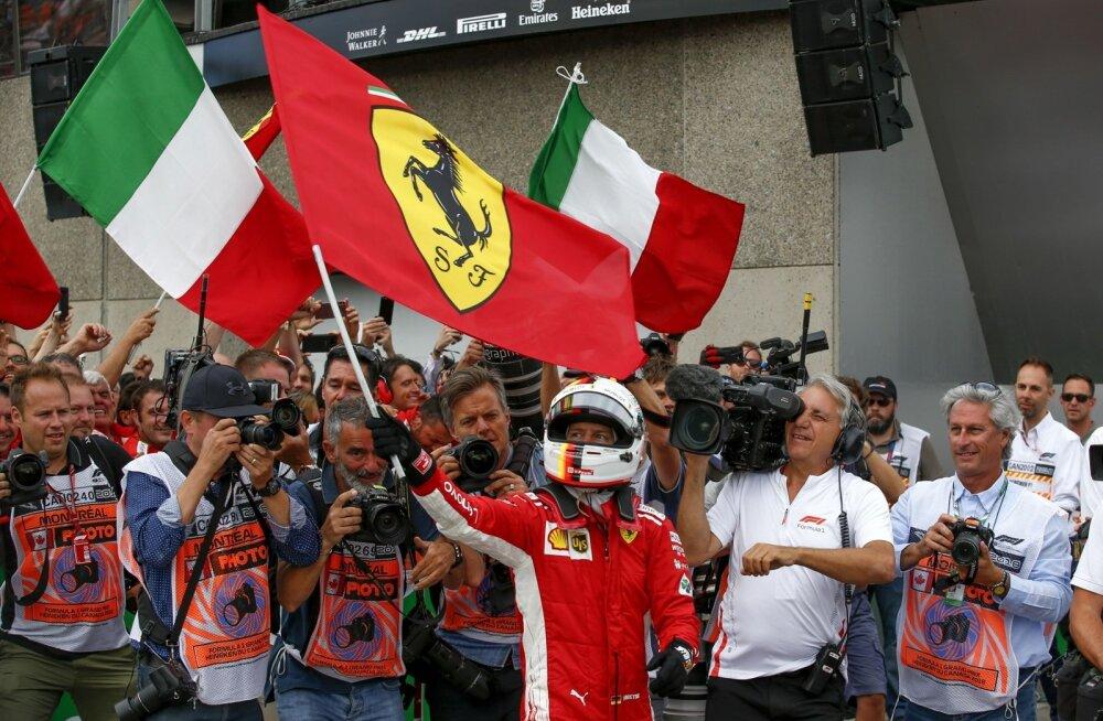 Sebastian Vettel tõusis taas MM-sarja üldliidriks.