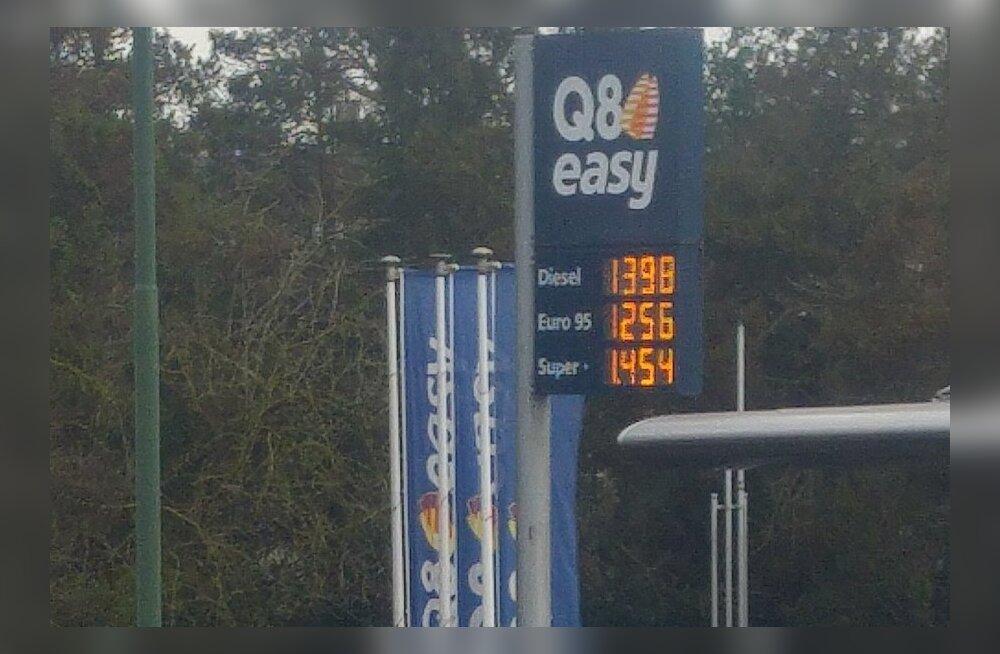 ФОТО| Смотрите и удивляйтесь: сколько стоит топливо в Бельгии, где средняя зарплата в два раза выше, чем в Эстонии