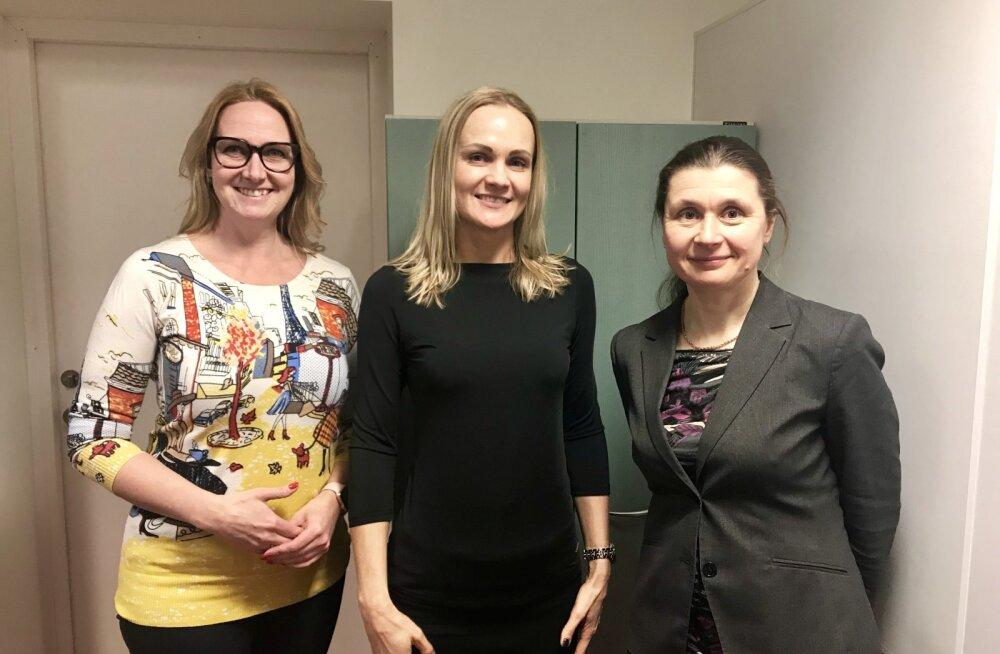Anu-Mall Naarits (Marketingi Instituut), Kristel Kongas (BB Finance Grupp) ja Karin Luiga (BDO Eesti)