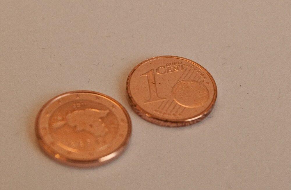 Исчезнут ли в Эстонии из обихода монеты номиналом в 1 и 2 цента?