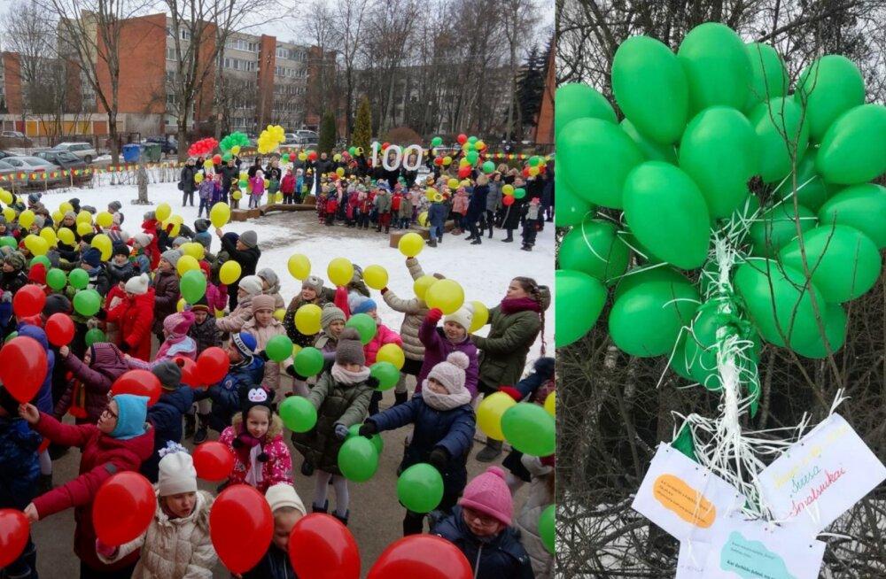 Kaunase laste juubeliõhupallid maandusid päev hiljem Võrumaal