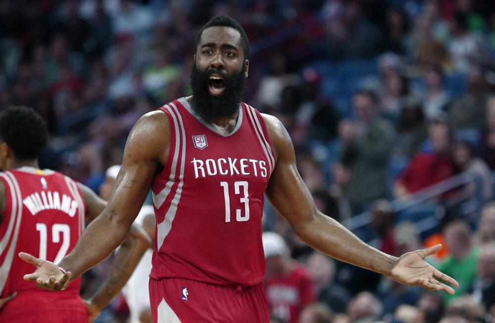 VIDEO: Hardeni 41 punktist ja kolmikduublist jäi Rocketsile väheks