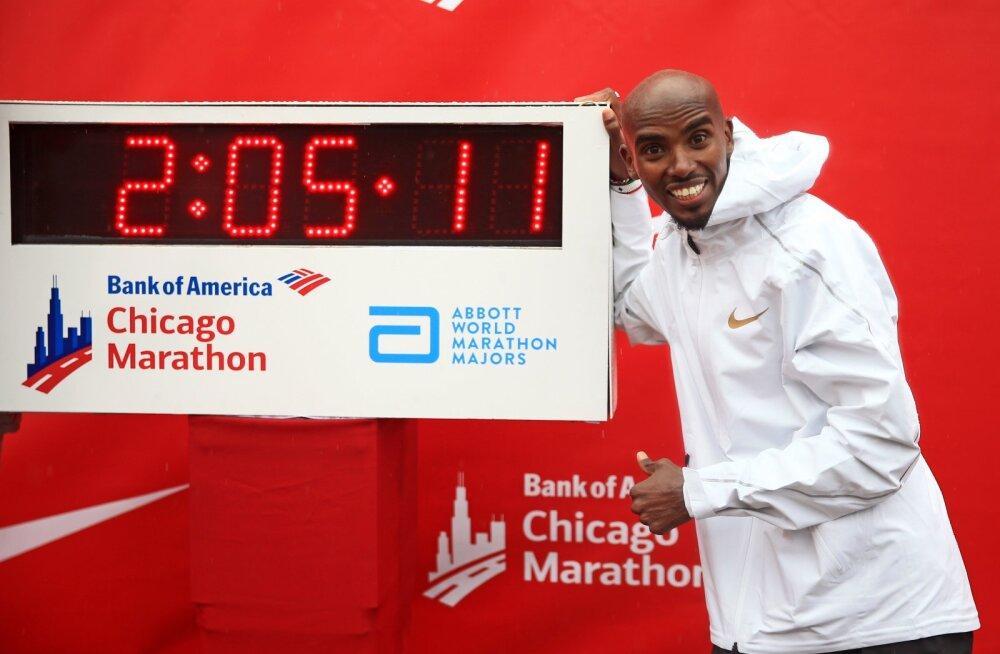 Chicago maratonil võidutsenud Farah püstitas uue Euroopa rekordi