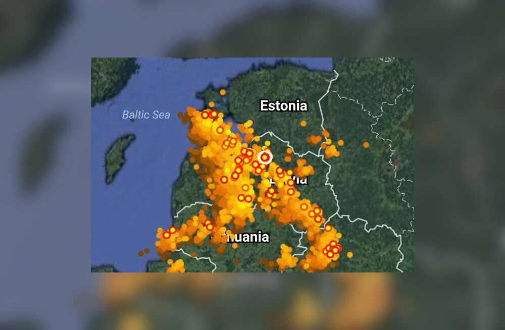 VIDEO   Eestist käis üle äike, kuid erilist ilmamuutust see ei too – jahedad sajuhood jätkuvad