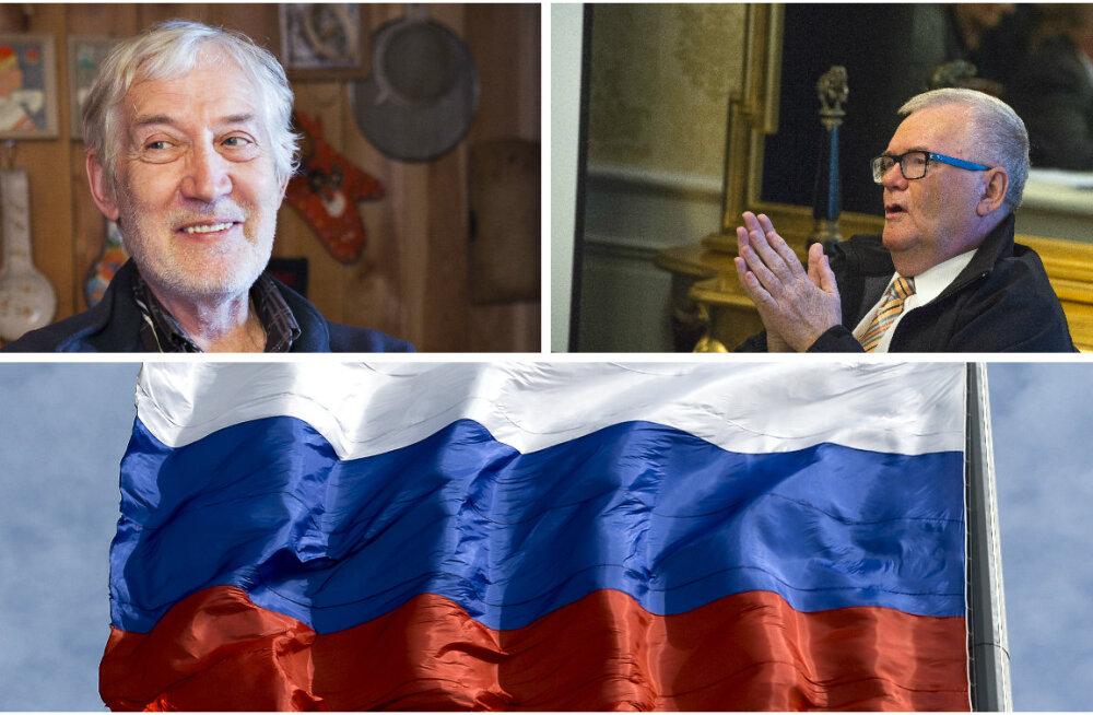 Jaan Kaplinski, Edgar Savisaar ja Venemaa lipp