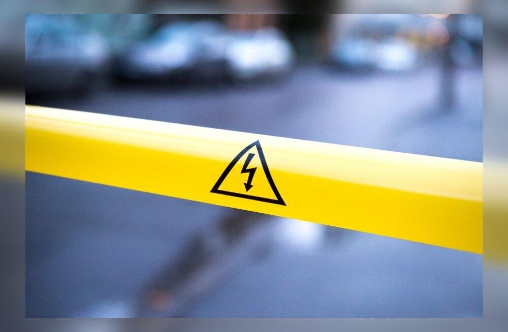 В Раквере без электричества остались 3340 домохозяйств