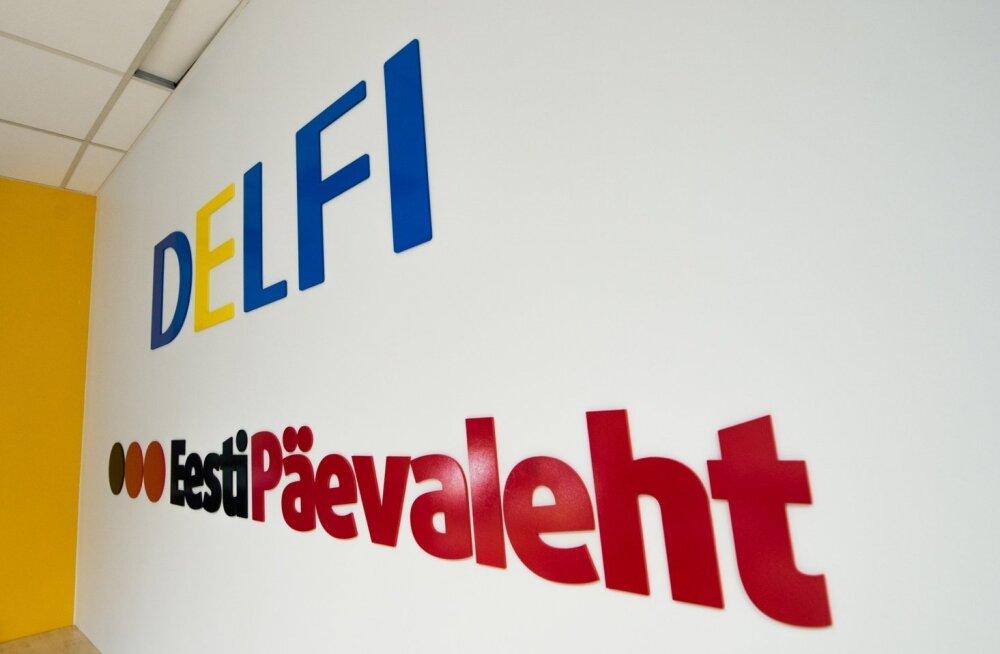 delfi logo, eesti päevaleht logo