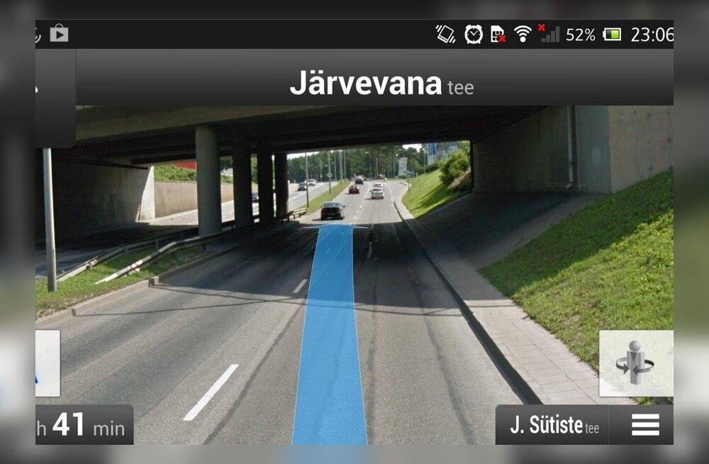 Google Maps Navigation Eestis