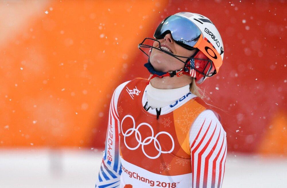 Lindsey Vonni luigelaul olümpial lõppes krahhiga