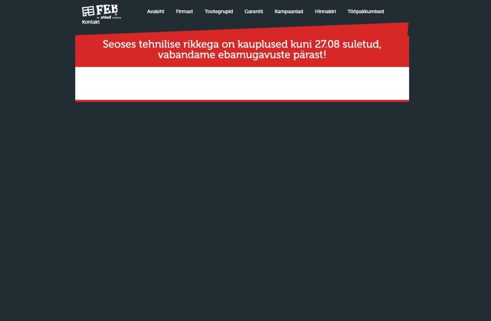 Eesti suurimat sanitaartehnikafirmat tabas küberrünnak, tegemist on lunavaraga