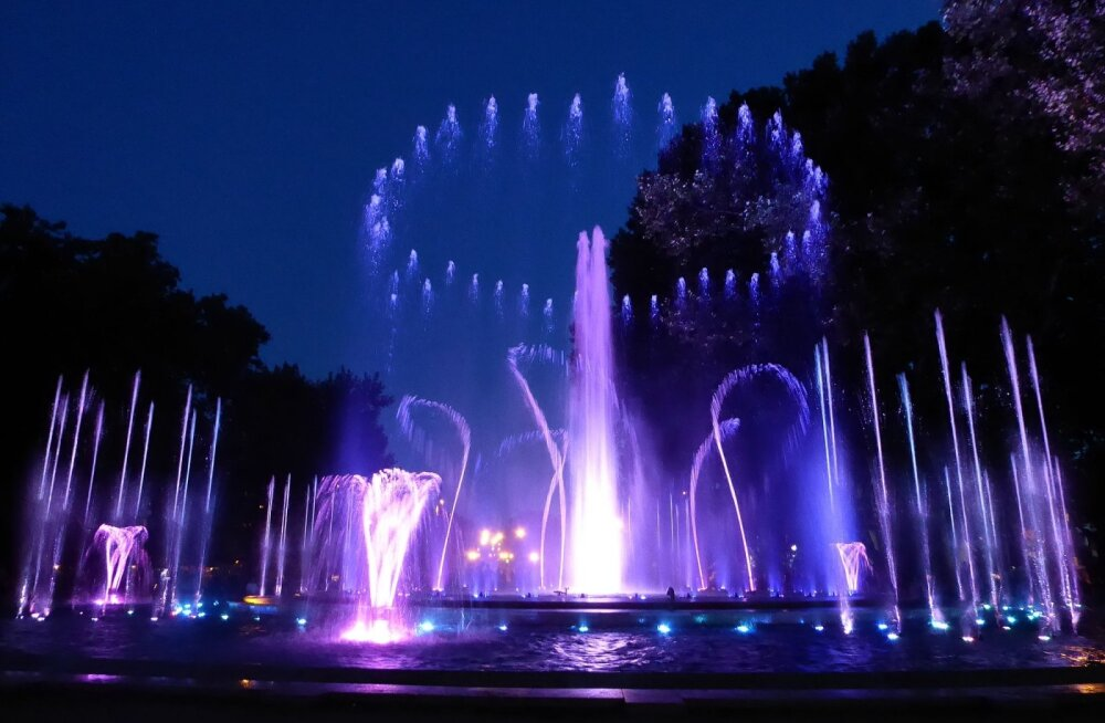 ФОТО и ВИДЕО читателя Delfi: Украшение Будапешта — волшебный фонтан