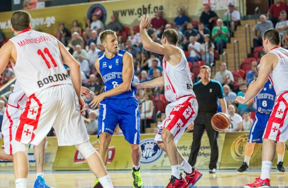 Eesti korvpallikoondis kohtub Tbilisis Gruusiaga