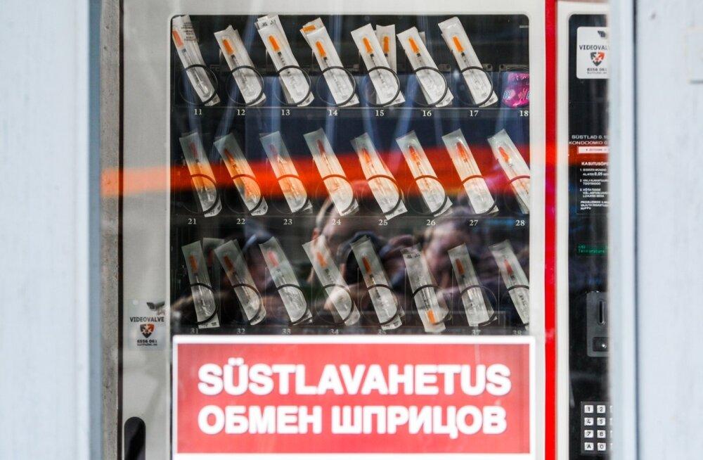 Tallinnas Liivalaia tänav 5 avati süstlaautomaat