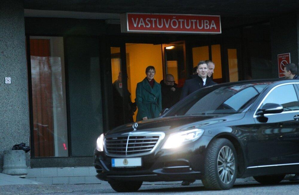 ФОТО: Президент Керсти Кальюлайд посетила Пельгулиннаский родильный дом