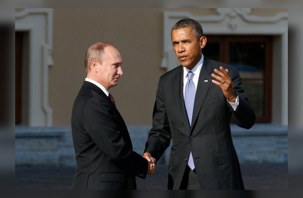 Vladimir Putin ja Barack Obama G20 kohtumisel Peterburis