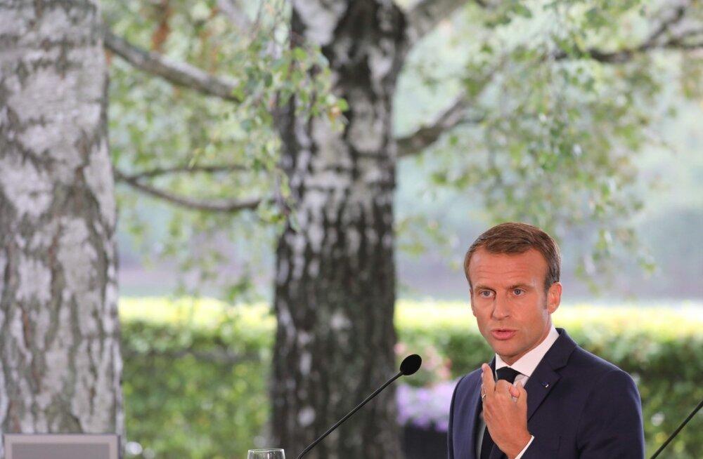 Prantsuse president Emmanuel Macron eile Soomes
