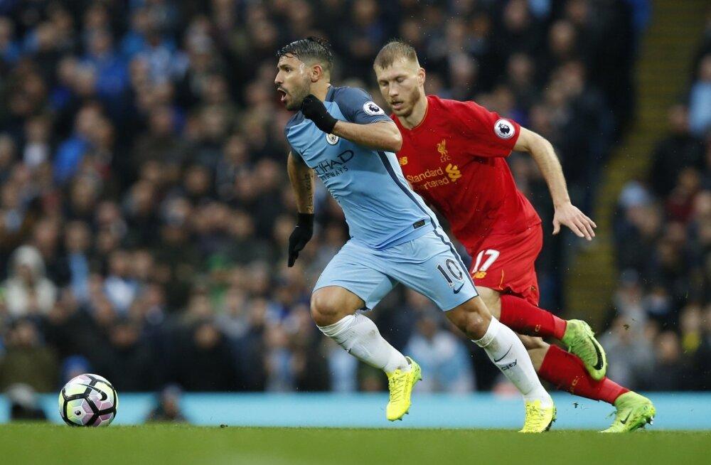 Klavan ajab taga Manchester City ründetähte Agüerot