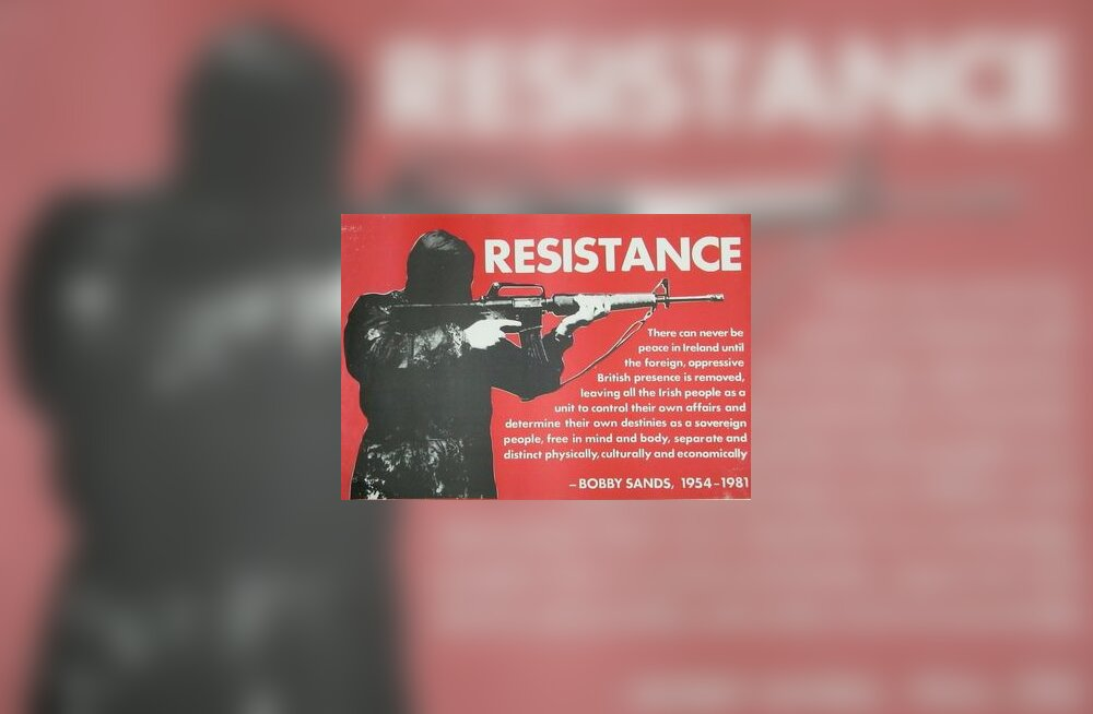 Iiri, Iirimaa, Ulster, terrorism, rühmitus, organisatsioon, poster