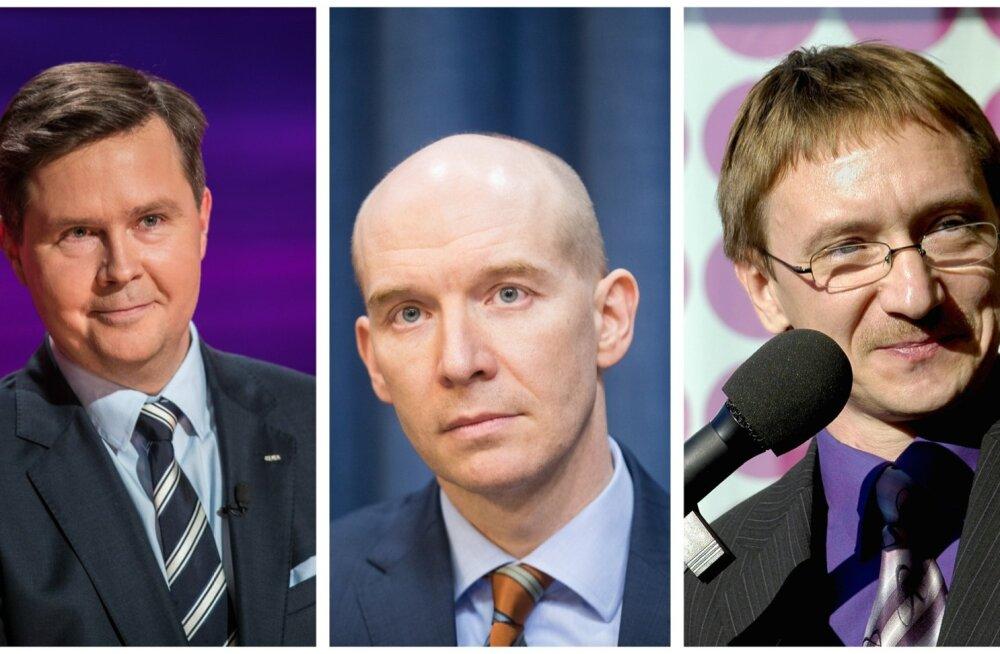 SEB Panga juhatuse esimees Allan Parik, Eesti Panga asepresident Madis Müller ja Tallinna Kaubamaja Grupi juhatuse esimees Raul Puusepp.