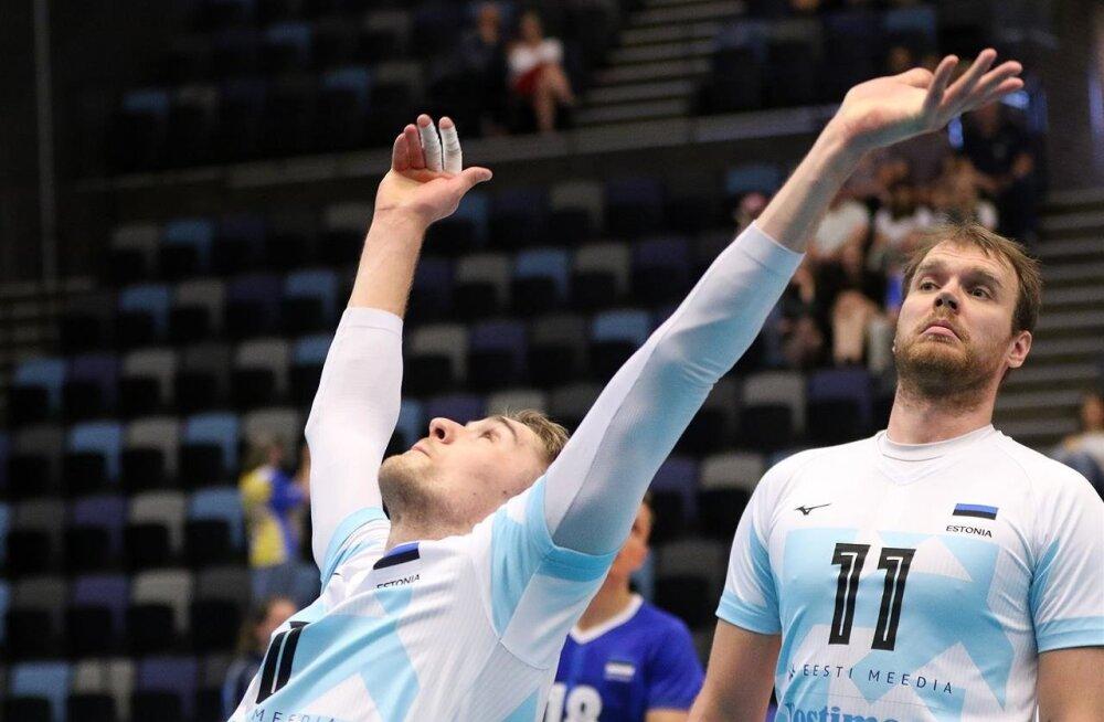 Kui Renee Teppani (vasakul) ja Oliver Venno rünnak ideaalselt laabub, võib Eesti võita keda tahes.