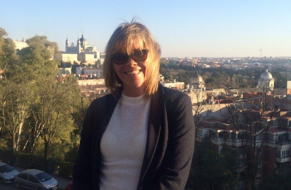 Jane Salumäe naudib Hispaania päikest. Pilt on tehtud sel nädalal Madridis.