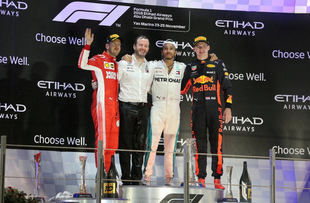 Red Bulli juht: Hamilton ja Vettel kardavad enim Verstappenit