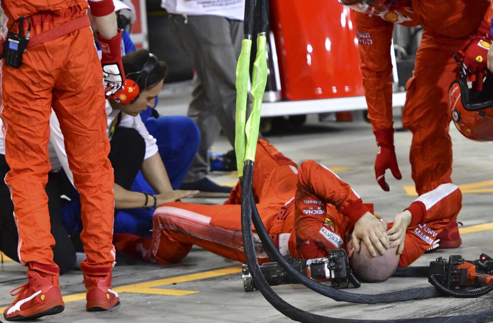 Selgus Ferrari mehaaniku vigastuse tõsidus ja meeskonna trahvisumma