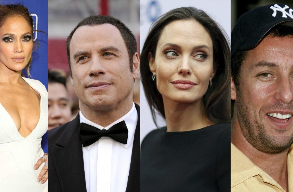 TOP 12: Angelina Jolie, Adam Sandler või Sylvester Stallone? Kes neist on aegade halvim filminäitleja?