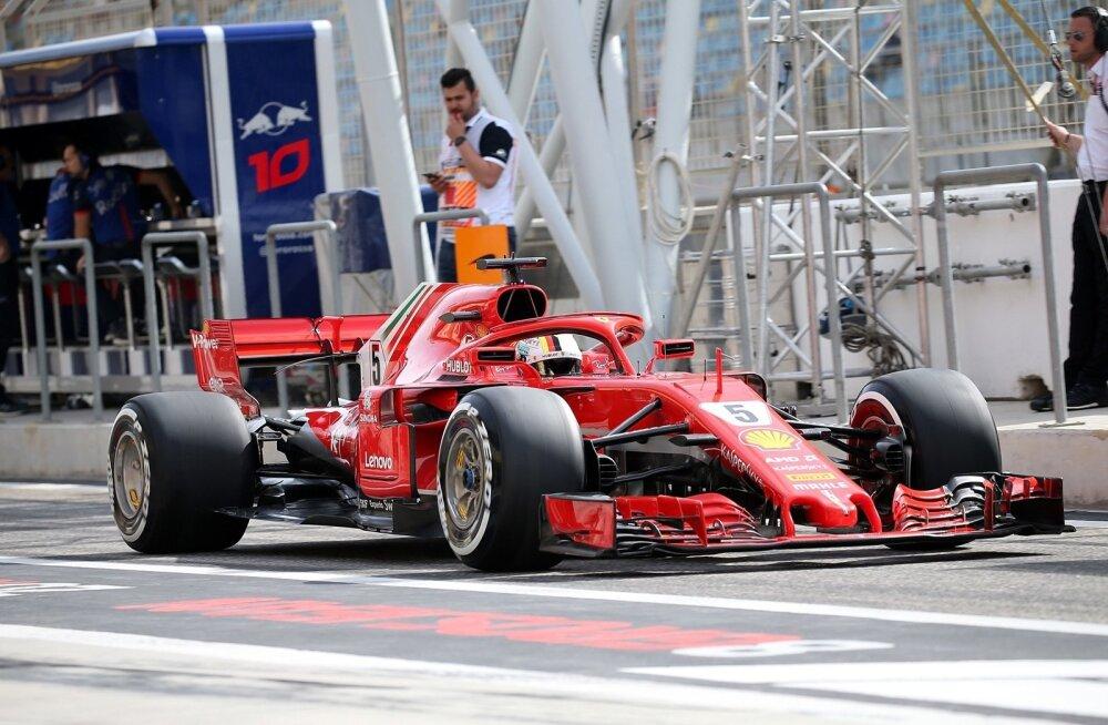 Sebastian Vettel Ferraril.