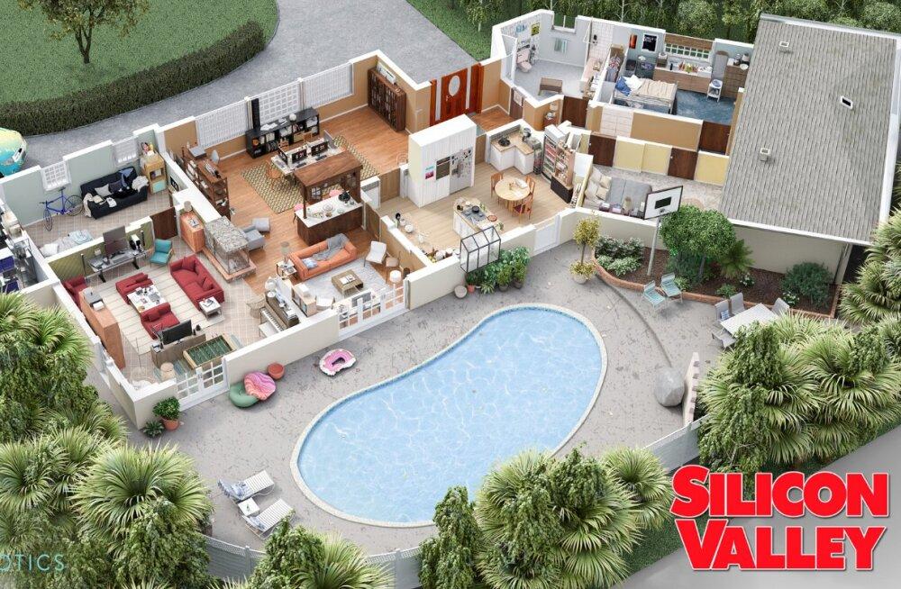 Lahe projekt: seriaalidest tuntud korterid-kontorid on nüüd 3D-s vaadeldavad