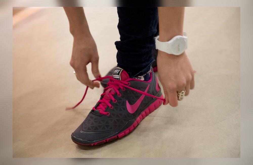 Nike treeningriideid valimas