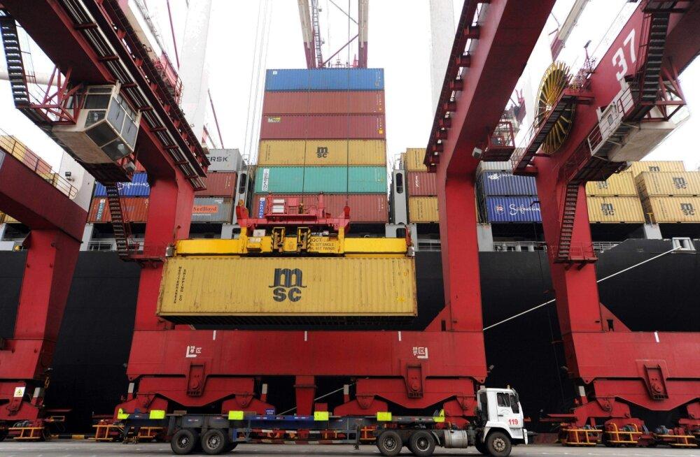 Transiidikeskuse konteinerkäive vähenes aasta esimese nelja kuuga ligi kümnendiku