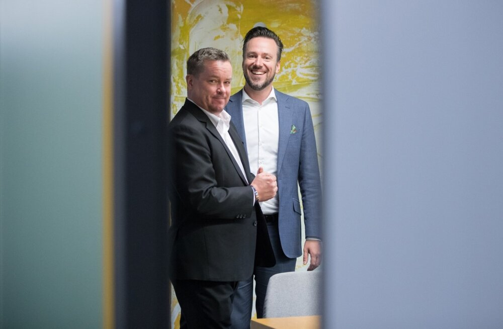 Finnairi asepresident Jonne Lehtioksa (vasakul) ning Baltikumi ja Ida-Euroopa piirkonnajuht Arūnas Skuja peavad oma koduturuks ka Eestit ja Baltimaid üldiselt.