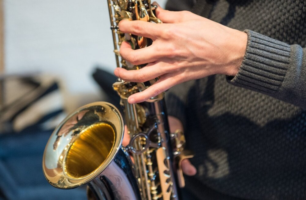 Saksofoni tund Raivo Tafenau juures