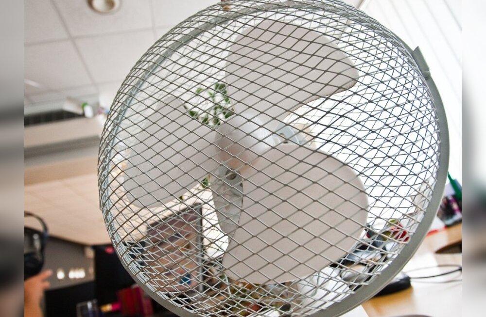Kauplused osteti ventilaatoritest tühjaks