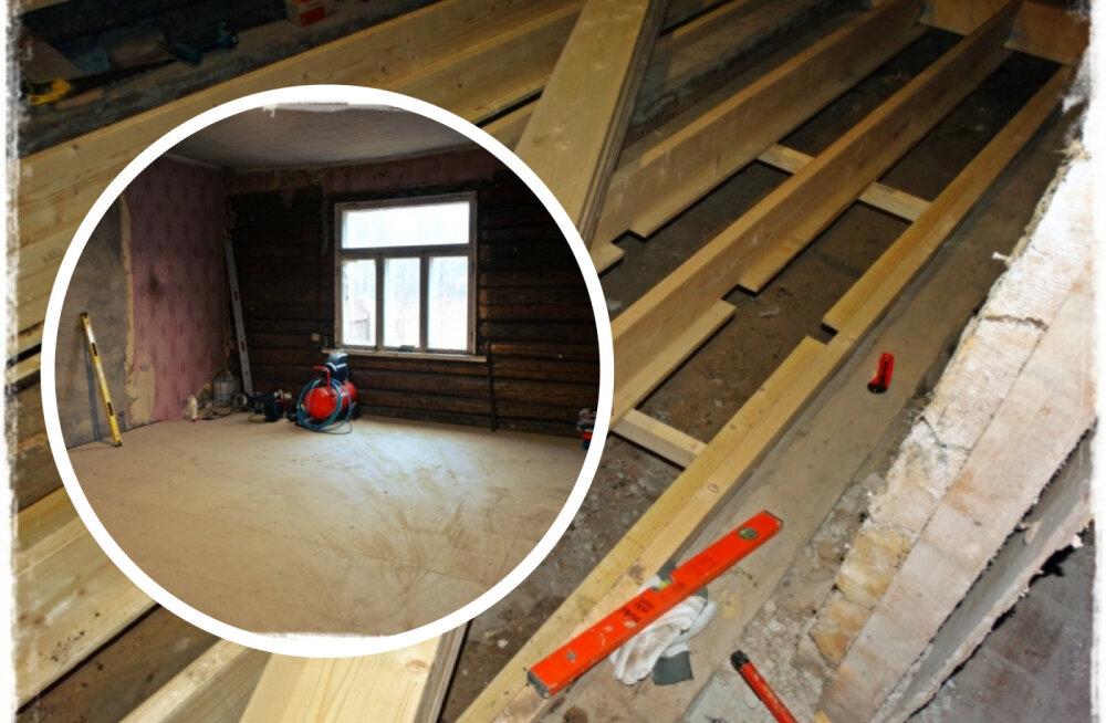 AJAVEEB | Uut elu alustavas vanas majas valmib hoogsalt esimene põrand
