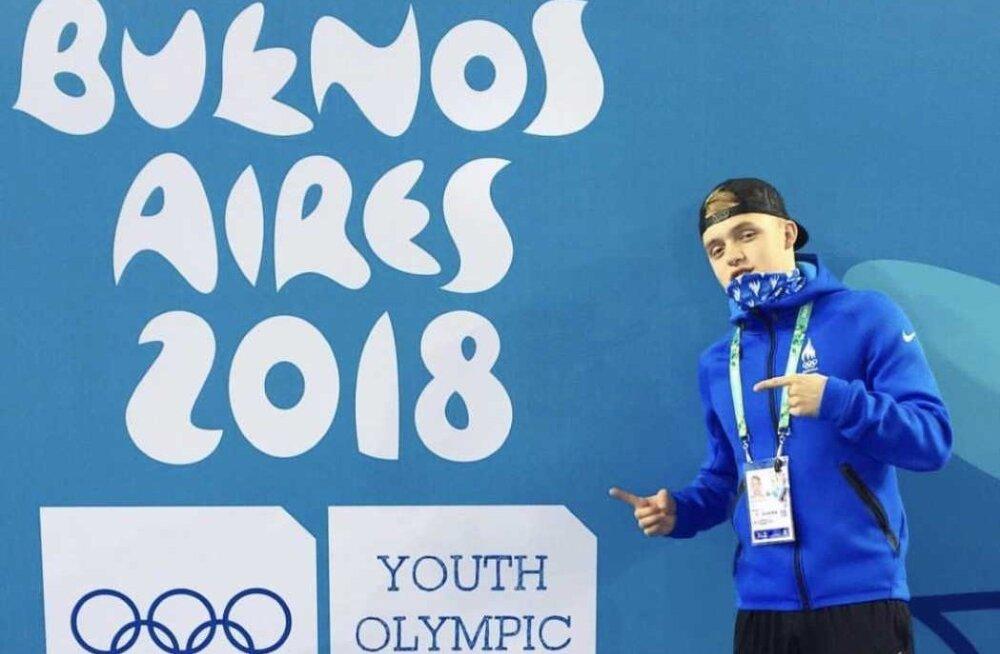 Иван Щеглов в заплыве на спине на дистанции 200 метров установил новый рекорд Эстонии