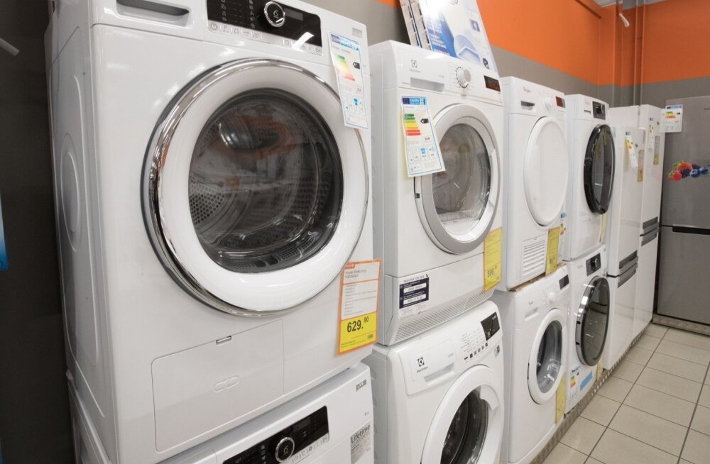 Järve keskuse Experdi tehnikapoe pesukuivatite valik