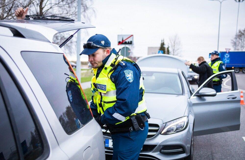 """В ходе учений """"Ёж"""" полиция и Кайтселийт выявили 34 нарушения закона о дорожном движении"""