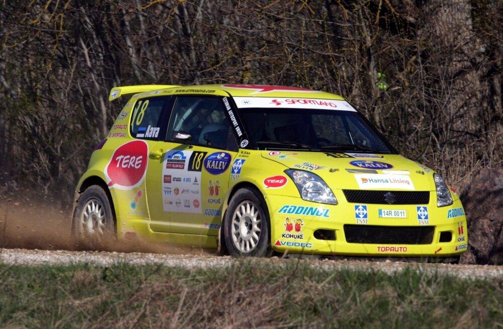 Suzuki JWRC auto ei vedanud Urmo Aavat ka teist korda tšempionitiitlini.
