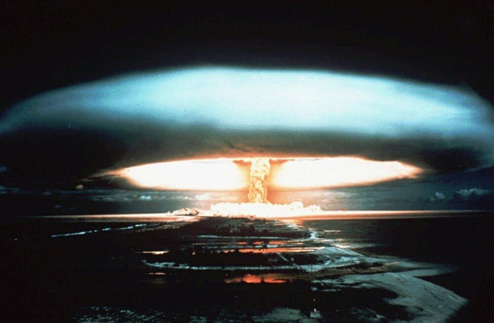 1971. aasta foto Mururoa atolli tuumakatsetusest