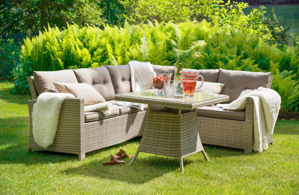 Milline võiks olla üks kaunis ja tugev mööblikomplekt, mis sobiks nii aiamööbliks kui ka terrassile?