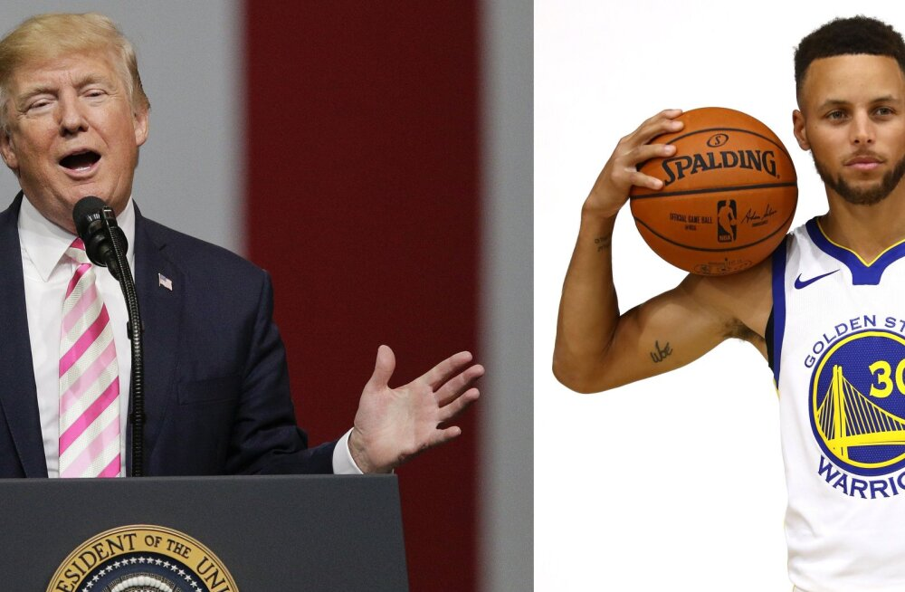 Donald Trump ja Stephen Curry