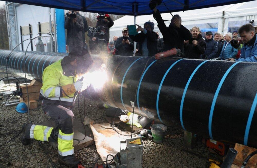 ФОТО: В Палдиски началось строительство газопровода Balticconnector стоимостью более 43 млн евро