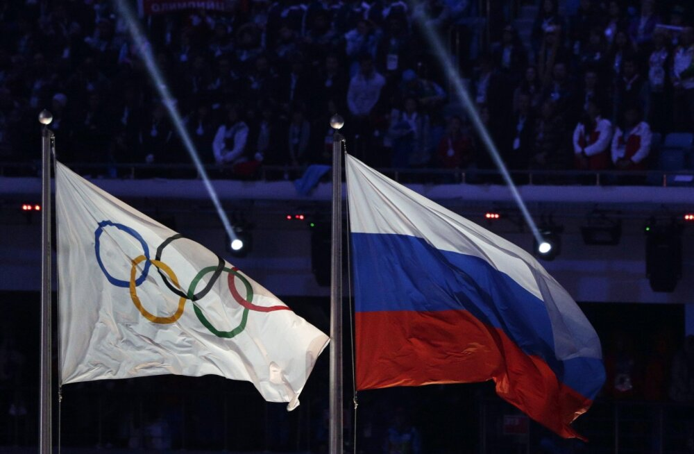 Olümpialipp ja Venemaa trikoloor