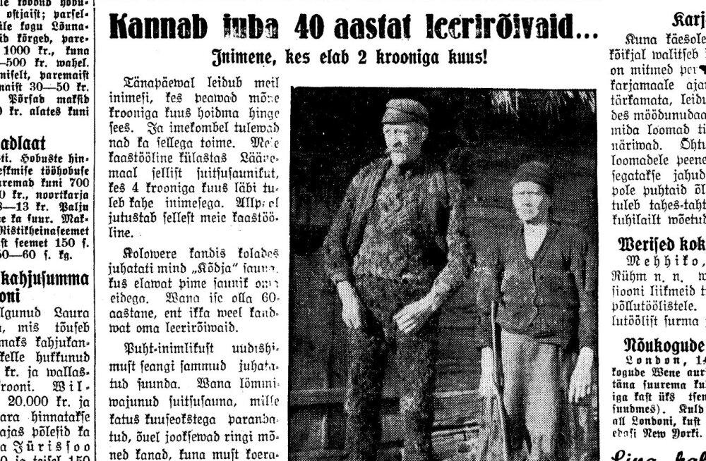 Aasta siis oli 1937: Ajakirjanik leidis Läänemaalt üles Eesti kõige vaesema pere