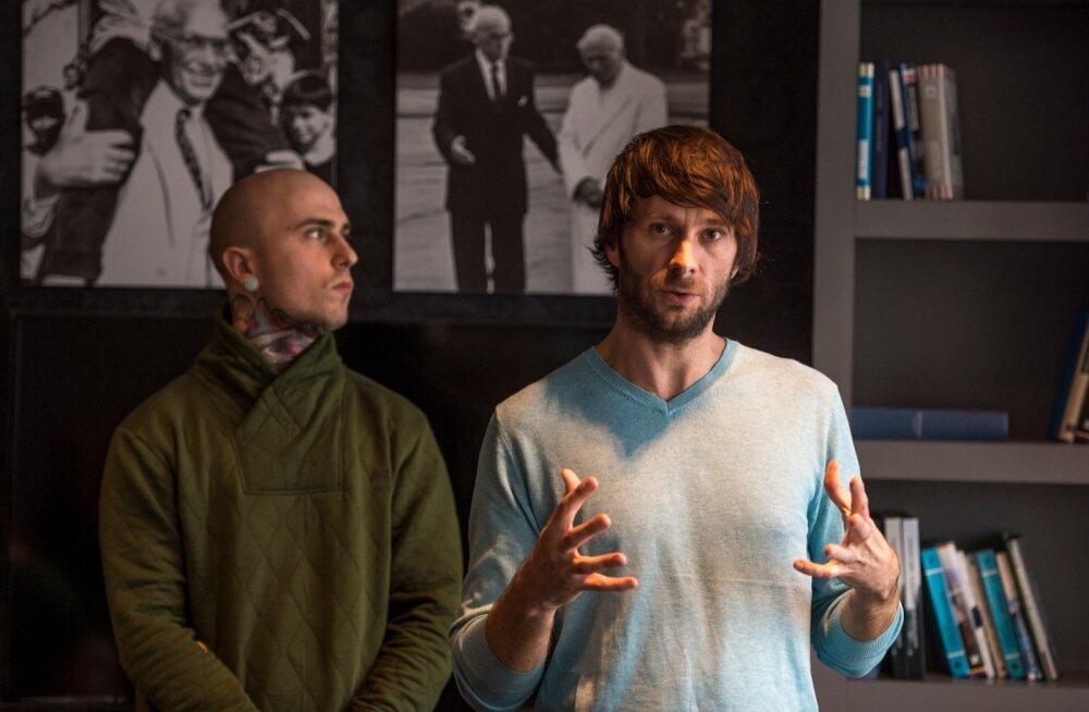 Agentuuri Optimist tegevjuht Magnus Lužkov (paremal) ja disainer Bruno Palmik