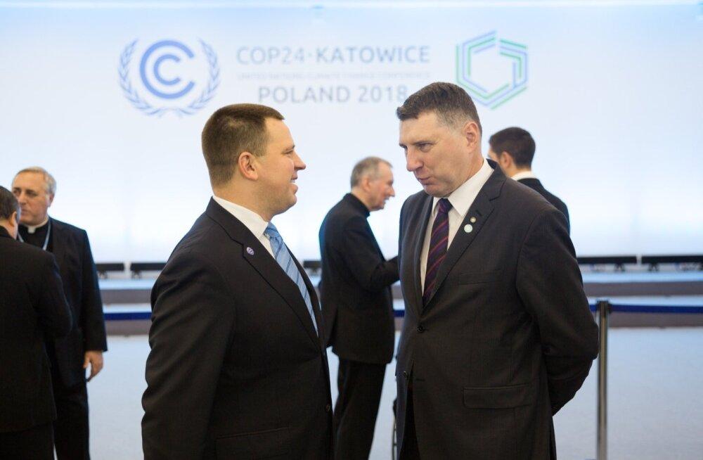 Peaminister Jüri Ratas ja Poola opositsioonipoliitik Radoslaw Sikorski