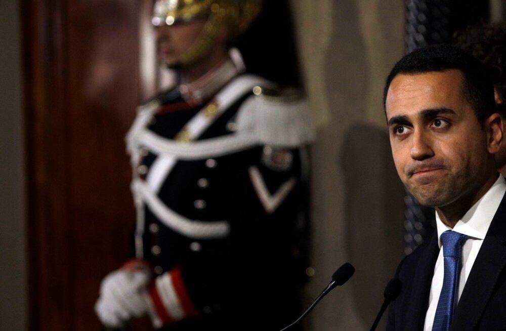 Luigi Di Maio seadis valitsuse loomise eeltingimuseks, et Silvio Berlusconi parteid sinna ei lasta.